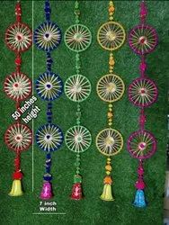 Scraping Glossy Multi Colorful Hanging Rings, For Decoration, Size/Dimension: 10 Inch