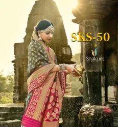 SKS-050 By Shakunt Jacquard Silk Saree