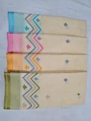 Shreeji Formal Wear Gadhwal Cotton Embroidery Work, With Blouse, 6.3 m