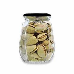 Croco Crown Shape Glass Jars with Airtight Snug Seal And Rustproof Metal Lid