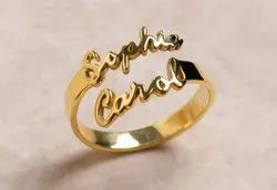 Custom Special Double Names Ring