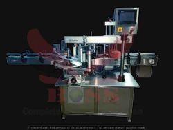 Double Side Vertical Labeling Machine For Round And Flat Bot