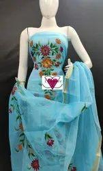 Mutteyar Casual Wear Fancy Kota Doria Suit (Hand Painted)