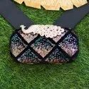 Designer Peacock Frame Clutches