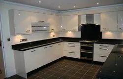 Marble U Shape Modular Kitchen