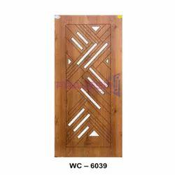 Wood Brown WC 6039 White Cutting Decorative Door