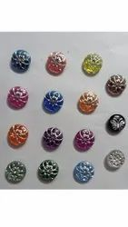 Round Plastic Kurta Button, Packaging Type: Packet, Size/Dimension: 1 Inch