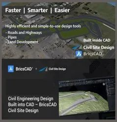 BricsCAD For Civil  : Civil Infrastructure Design  Software For Road Design And Pipe Design Tools