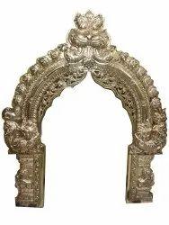 Golden 7 Feet Brass Thiruvachi Statue, For Temple