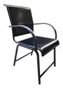 Kylin Seating Black Iron Chair, For Restaurant, Size: Standard