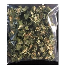 Green A Grade Dehydrated Lady Finger, Carton, Packaging Size: 20 Kg