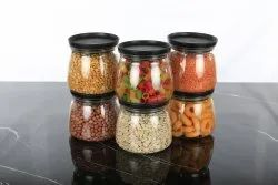 Round Kitchen Storage Matka Shape Container Set Plastic - ( Set Of 6), Size/Dimension: 6 Containers : 800 ML