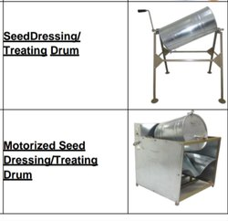 Seed Treatment Drum Or Seed Dressing Drum, Grade: Manual, Size: 600 Mm
