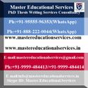 PhD Thesis Writing Services In Delhi, India
