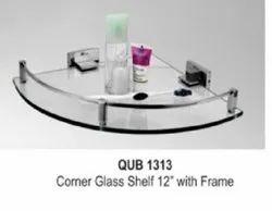 Brass Bathroom Glass Corner Shelf