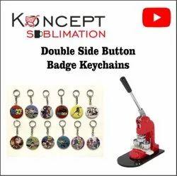 Blank Button Badge Keychain