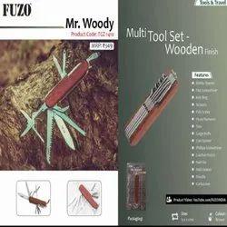 FUZO TGZ-1410 Multi Tool Set Wooden Finish, Size: 9 x 2 cm