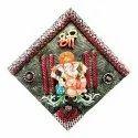 Lord Ganesh Wall Hanging Earthenware Decorative Polyresin Showpiece