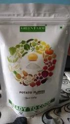 White A Grade Green Farm Potato Flakes for Restaurant and Home use in stuffing, Stand up pouch, Packaging Size: 200g