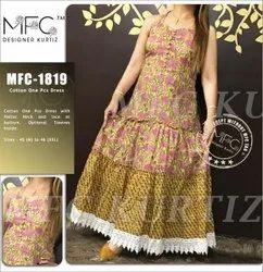 Cotton One Piece Dress