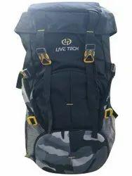 Live Tech Black (Base) Printed Polyester Trekking Bag