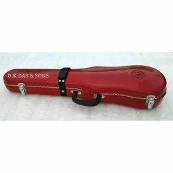 Red Hard Fiber Glass Violin Case