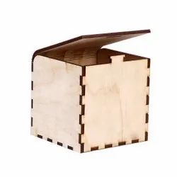 birch ply Rectangle Wooden Small Box, For Storage, Size: 11x10.5x10,5cm