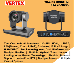 Vertex Wolfcam All-In-One Robotic PTZ Camera