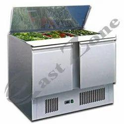 Auto Saladettes 2 Door Elanpro Refrigerator, Front Open