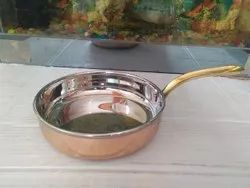 Shree Krishna Steel Copper Frypan, For Restaurant, Round
