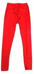 Vismai Garments Lycra Ladies Red Skinny Legging, Size: Medium