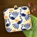 Female Colourful Printed Box Clutch