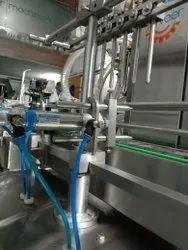 Automatic Lubricating Oil Filling Machine.