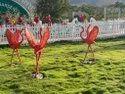 FRP Flamingo Statue