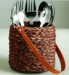 Brown Handicraft Sabai Sea Kauna Grass Cutlery Bag