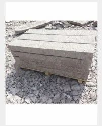 Outdoor Gray 100 mm Granite Kerb Stone, For Landscaping