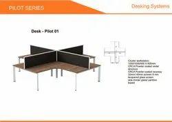 Prelam Particle Board Cluster Workstation Desk Pilot-01