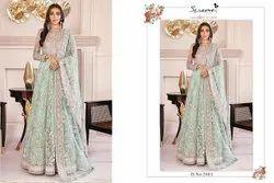 Unstiched Pakistani Heavy Embroidered Salwar Kameez Suits