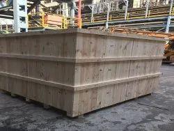 Trinitypallet Brown Pine Wood Crate, Capacity: 15 Ton, Size: Custom