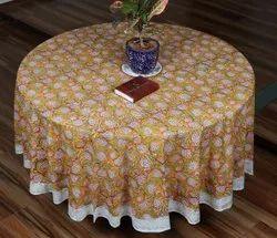 Vht Cotton Round table cover, Size: 210 Cm