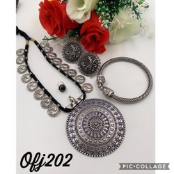 Oxidized Long Necklace Set