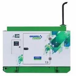 7.5 kVA Greaves Power Diesel Generator, 3 Phase