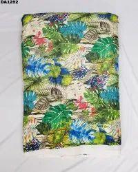 Forest Theme Semi Velvet Sateen Silk Digital Print Fabric