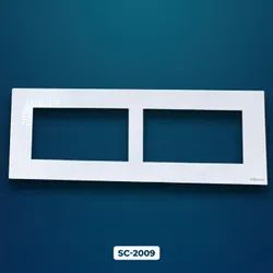 Polycarbonate White 6 Module Switch Plate, For Home