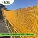 FRP Molded Gratings For Factory Partition With Walk Way