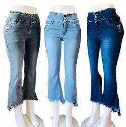 Navy Blue Ladies Stretchable Comfort Fit Denim Jeans