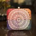 Irya Lifestyle Mandala Printed Evening Clutch Bag