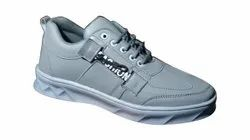 Grey Mens Casual Sneaker Shoes, Size: 7