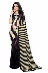Party Wear Printed Top Class Full Lurex Saree, 6.25m