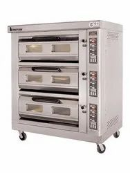 Digital Three Deck Gas Oven With Steam